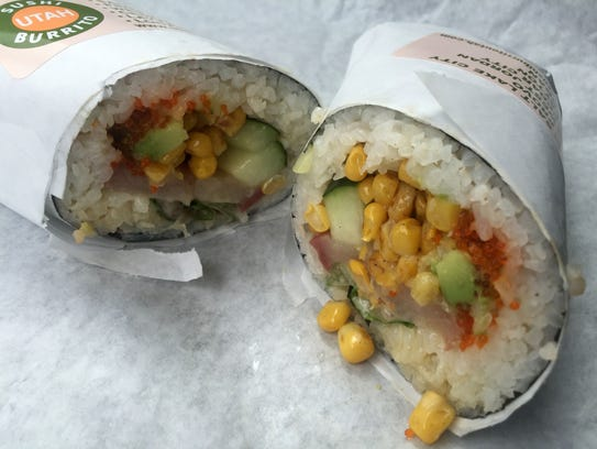 The Hamachi Wrap from Sushi Burrito #5 in Cedar City