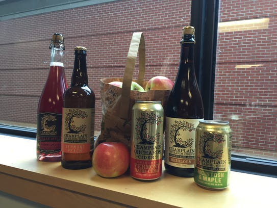 An array of products accompanied Bill Suhr of Champlain