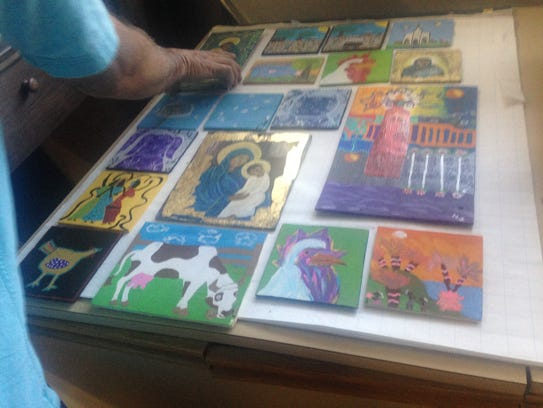 Local artist, Mark Mantoya opens up his home to veterans