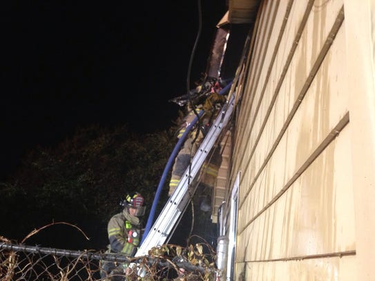 Murfreesboro firefighters put out a duplex fire late