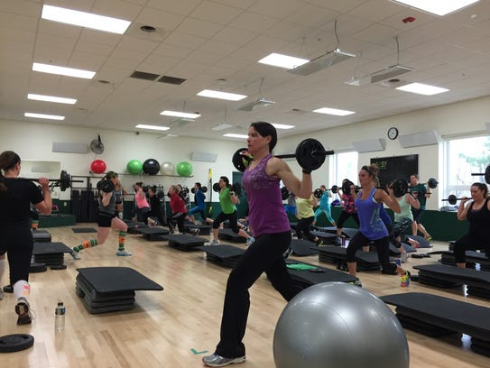 Bodypump is one of many group exercise classes offered