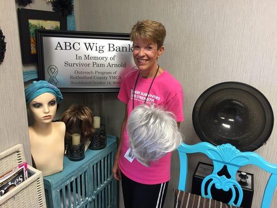After Breast Cancer leader Melanie Cavender holds a