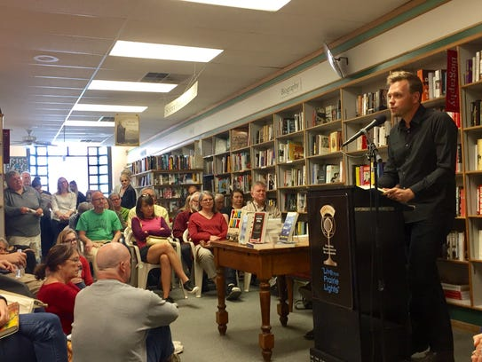 """Author Nathan Hill reads from his novel """"The Nix"""" at"""