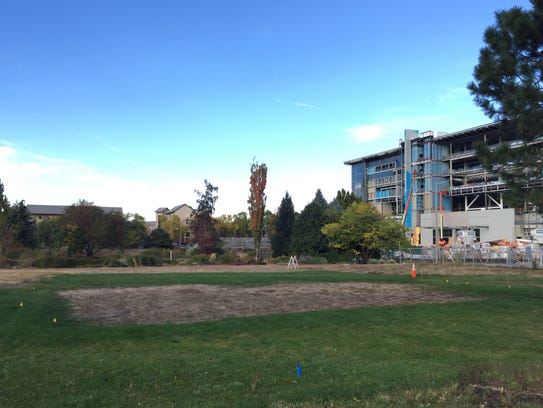 The site west of the new on-campus stadium where CSU