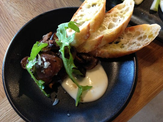 One of Mason Dixon Distillery's seasonal plates: Mushrooms