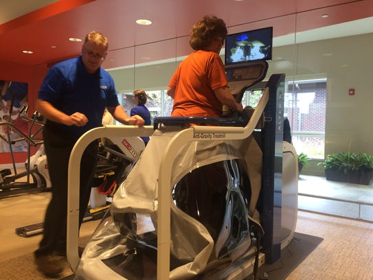 The AlterG anti-gravity treadmill will help speed recovery