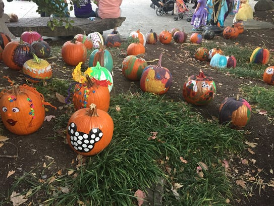 Themed pumpkins are scattered throughout Zoo Knoxville