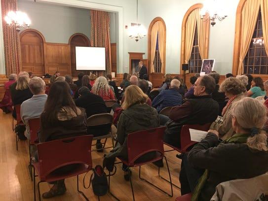 Shelburne community members attend a public hearing