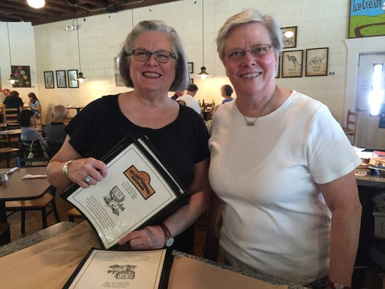 Nancy and Joyce McCarrell of The Cafe at Williams Hardware