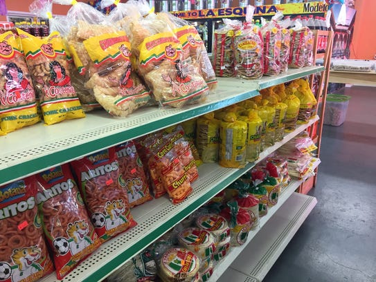 La Esquina Market grocery section features a variety