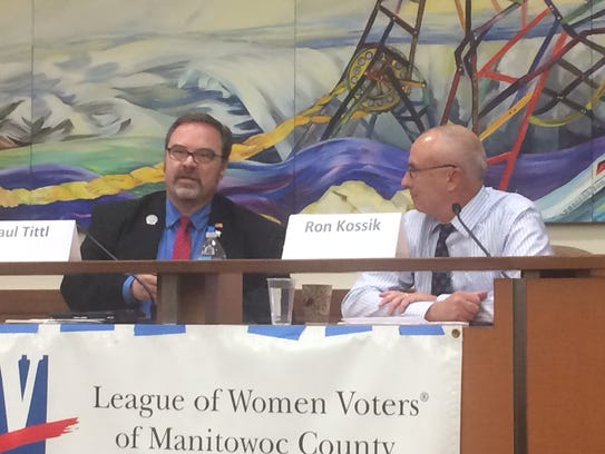 State Rep. Paul Tittl and Democratic candidate Ron