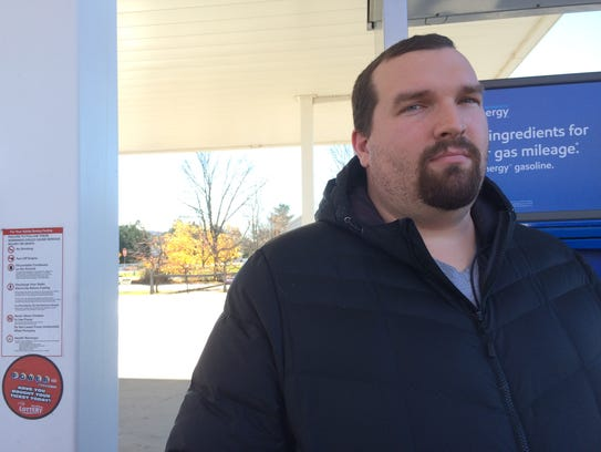David Bullock of Hinesburg bought gas Tuesday at Simon's
