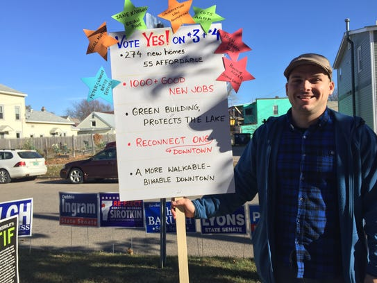 Ryan Emerson, an organizer in favor of ballot items