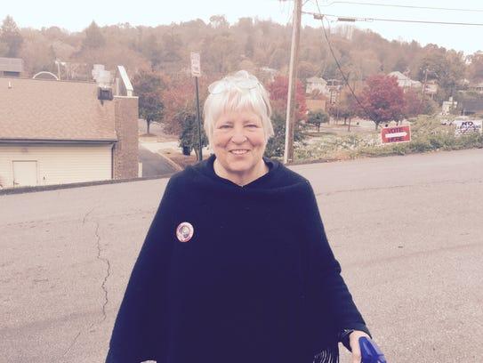 Voter Barbara Freeman