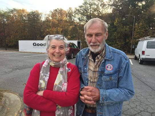 Voters Amy and Vince McCarron