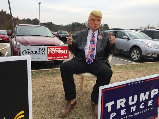 Tom Wechtel as Donald trump in Madison County.