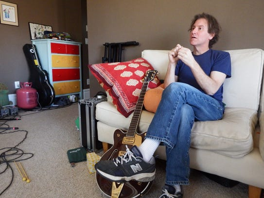 Steve Tannen of The Weepies in his northside Iowa City