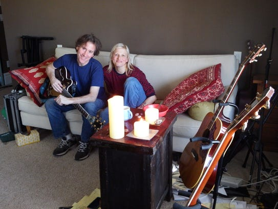 Deb Talan and Steve Tannen of The Weepies inside their