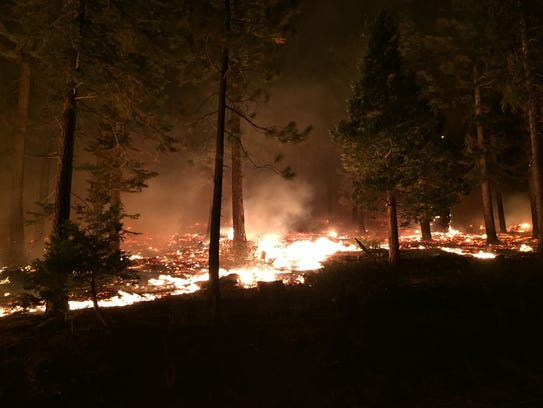 The Emerald Fire, which started Oct. 14, 2016, near
