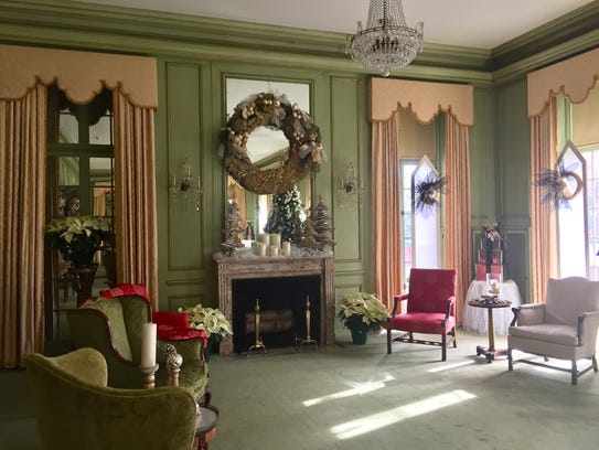 Each room of the manor house at Kingwood Center Gardens