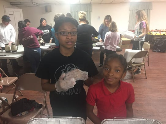 Volunteer help for Thanksgiving Day dinner at First
