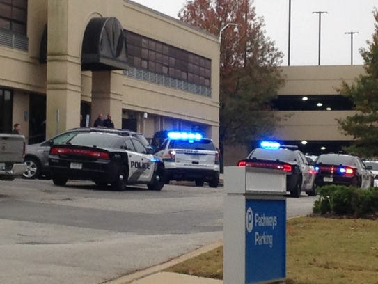 Police cars were parked outside Pathways on Summar