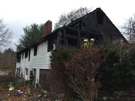 A fire heavily damaged a home on Route 11 in Whitney