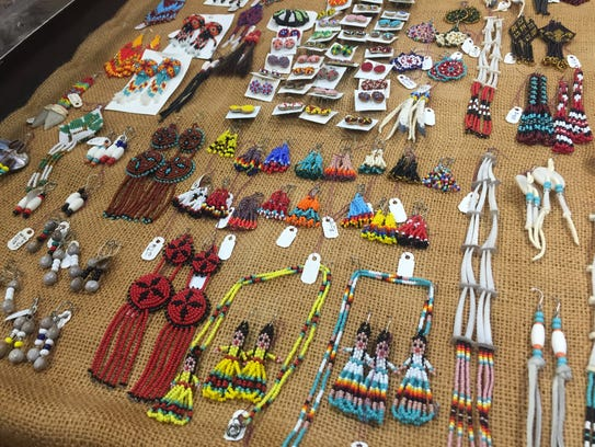 Jewelry by Choctaw artist Margo Rosas at the Native