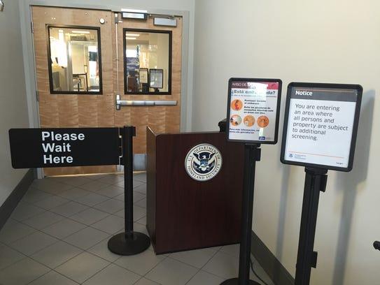 TSA screening area at Vero Beach Regional Airport.