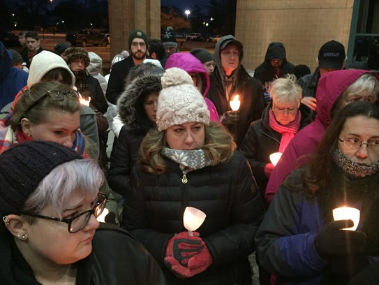 A crowd estimated at some 500 people turned out for a candlelight vigil for Danielle Stislicki shortly after her disappearance.