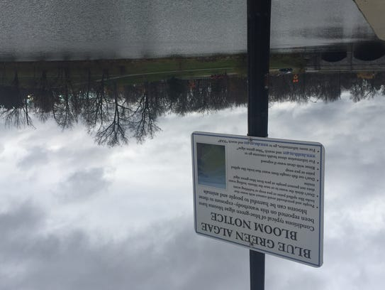 Warning site at Hoyt Lake in Buffalo's Delaware Park.