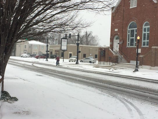 Rutherford Countians brace for first winter storm of 2018. This scene is from the first storm of 2017.
