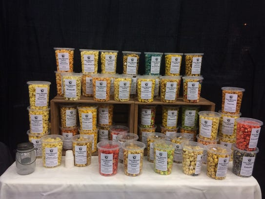 A showcase of the various kinds of popcorn, including