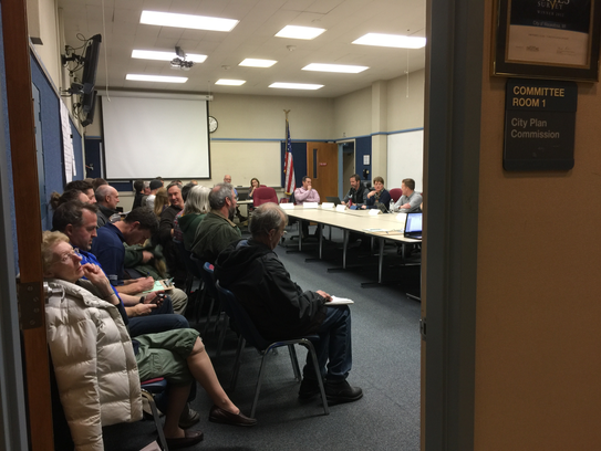 Over 40 people attended the plan commission meeting