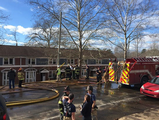 Firefighters responded to Pisgah View Apartments in
