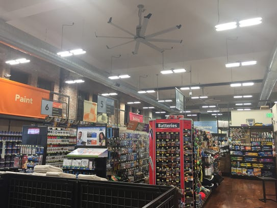 The main floor of Woods Hardware at 125 E. Ninth St.