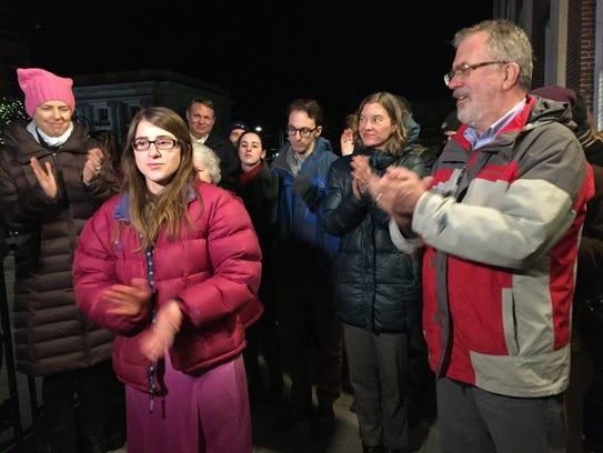 Burlington City Council members and community activists