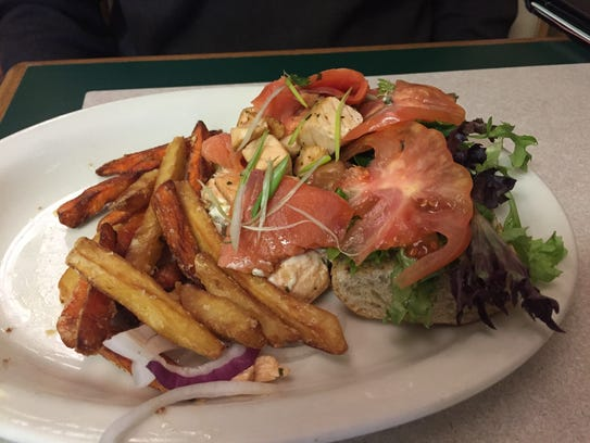 The salmon sandwich at Old Soul.