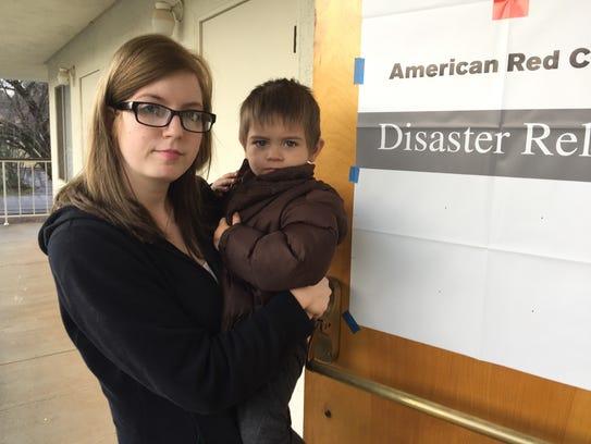 Heidi Martikke and her 2-year-old son, Bradley, sought