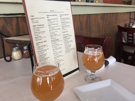 A pair of Edward pale ales by Hill Farmstead wait to