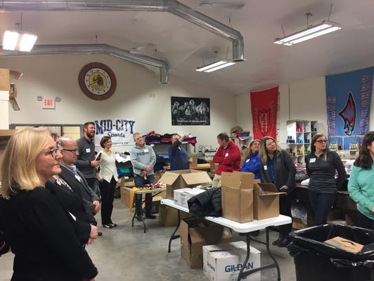 Hartland Chamber members gathered in support of two