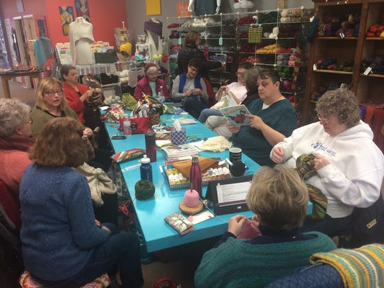 Women gather Wednesday mornings at The Knitting Room