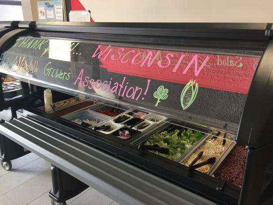 The potato-friendly salad bar that WPVGA donated to