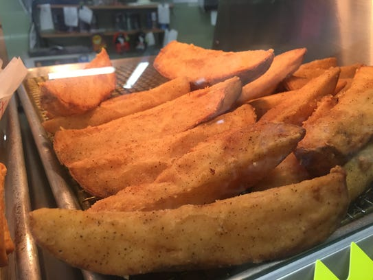 Potato wedges are a popular meal item at Kwik Mart,