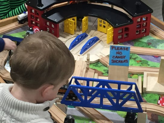 Children flocked to the model train show in Novi over