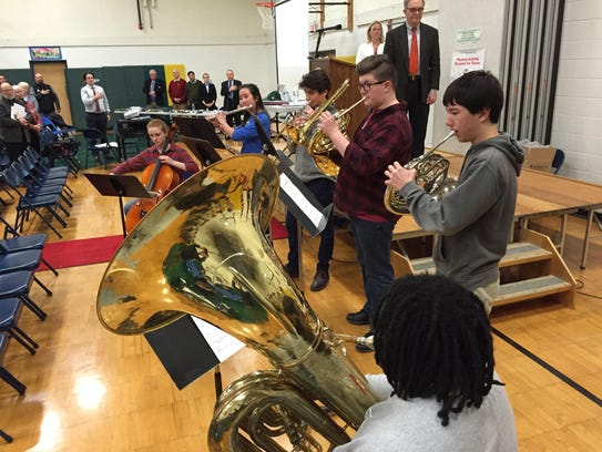 Students from Champlain Valley Union High School perform