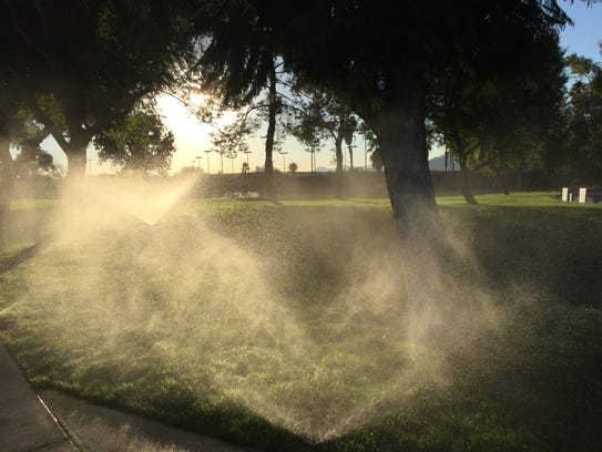 Recycled water is used to irrigate the grass at Demuth