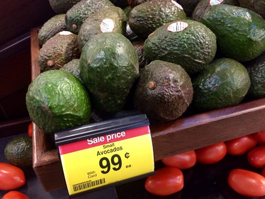 Avocados were on sale at Kroger for 99 cents each.
