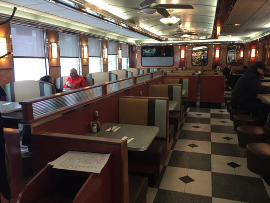 Customers at the Pleasantville Diner, March 13, 2017.