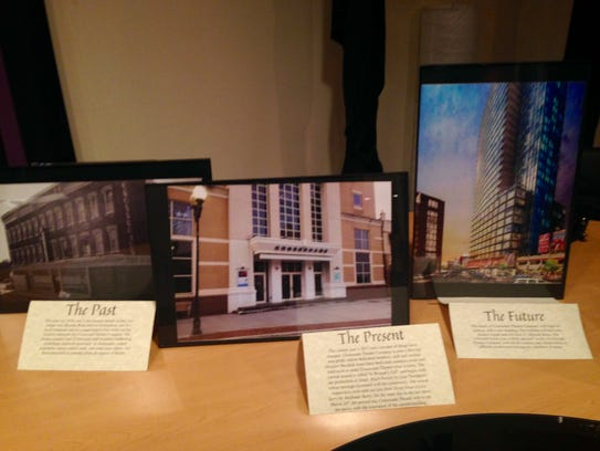 Displayed in the lobby of Crossroads, photos of the